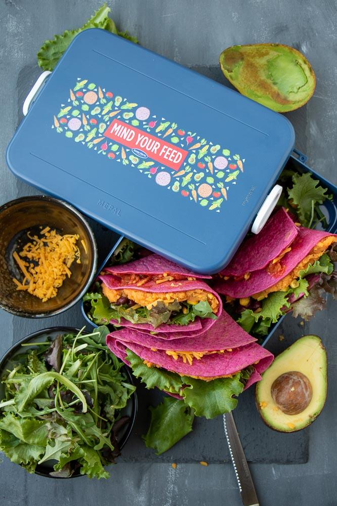 rode bieten tortilla met zoete aardappel, lunch recept