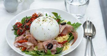 orzo salade, Italiaanse orzo salade, orzo salade met burrata,